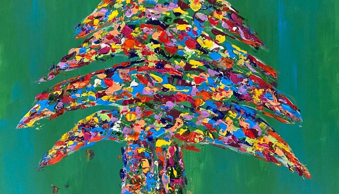لوحة لزينة نادر.